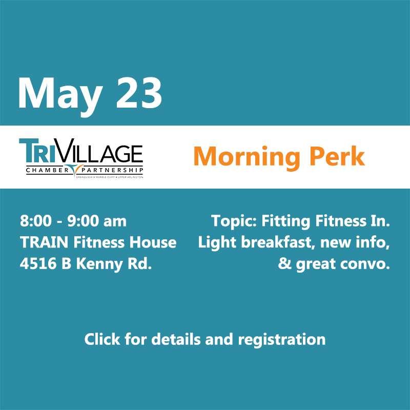 Tri Village chamber morning perk TRAIN fitness house